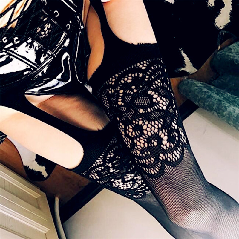 2018 Hot Sexy Womens Fishnet Tights Open Crotch Mesh Pantyhose Lady Nylons Tights Stockings Fish Net Tights Hosiery Collant