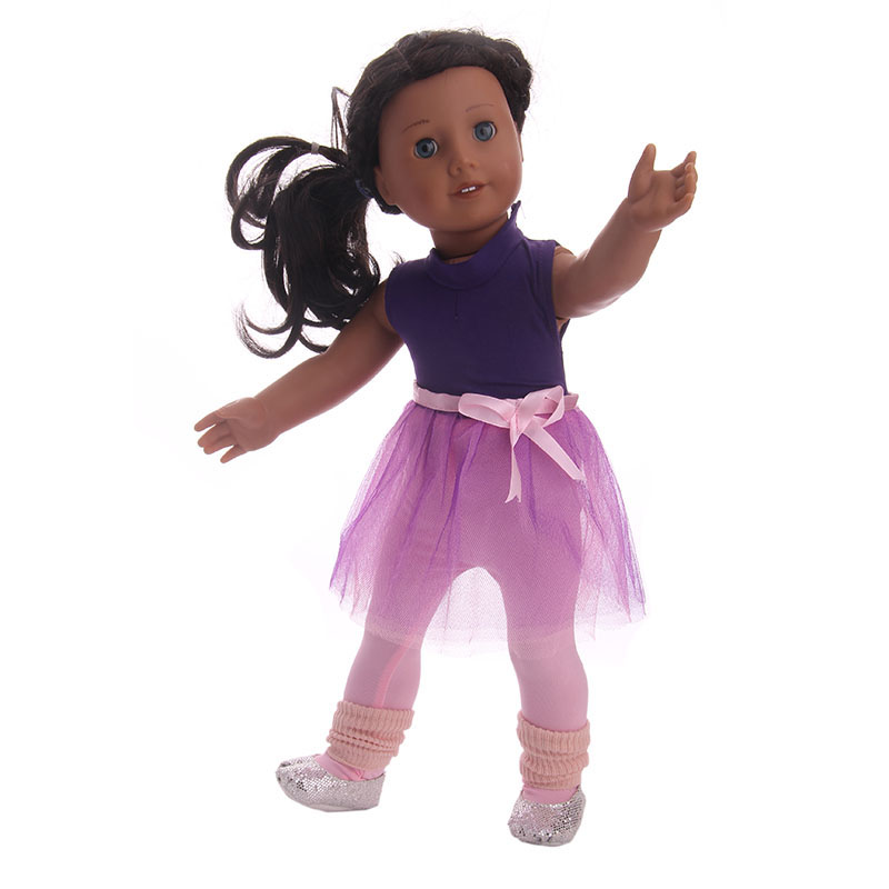 LUCKDOLL Ballet Suit Yarn Skirt Fit 18 Inch American 43cm Baby Doll Clothes Accessories,Girls Toys,Generation,Birthday Gift