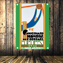 Uruguay World Cup 1930 Large Vintage Football Poster Banner Flag Tapestry HD Senior Art Cloth Painting Wall Chart Home Decor