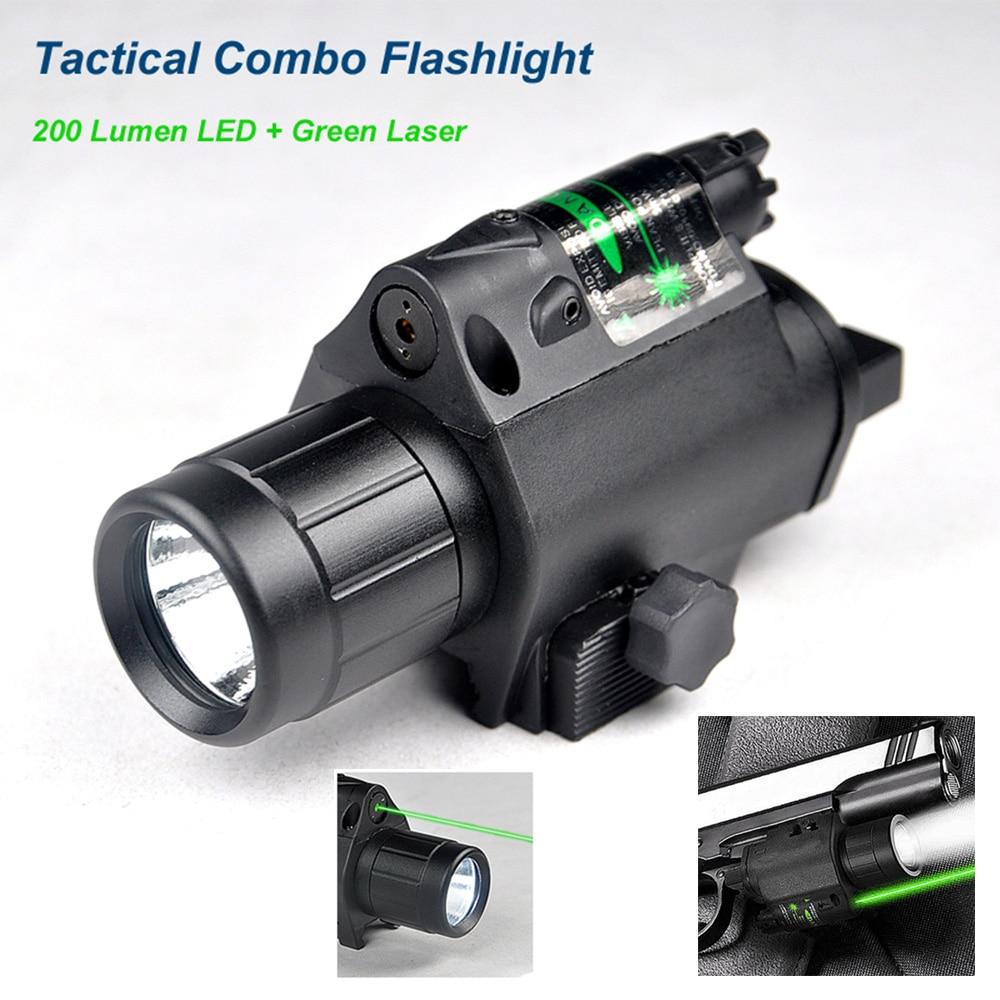 Nouvelle lampe-torche combinée tactique améliorée de 3W Led résistante au recul élevé avec le boîtier en aluminium d'abs de vue de Laser de 5mW vert 200 Lumens.
