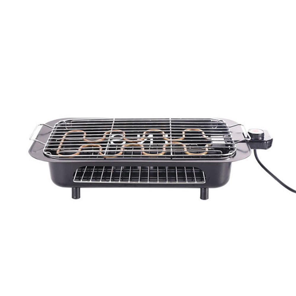 A Electric Bbq Grill Barbecue Oven Roasting Pan Adjustable