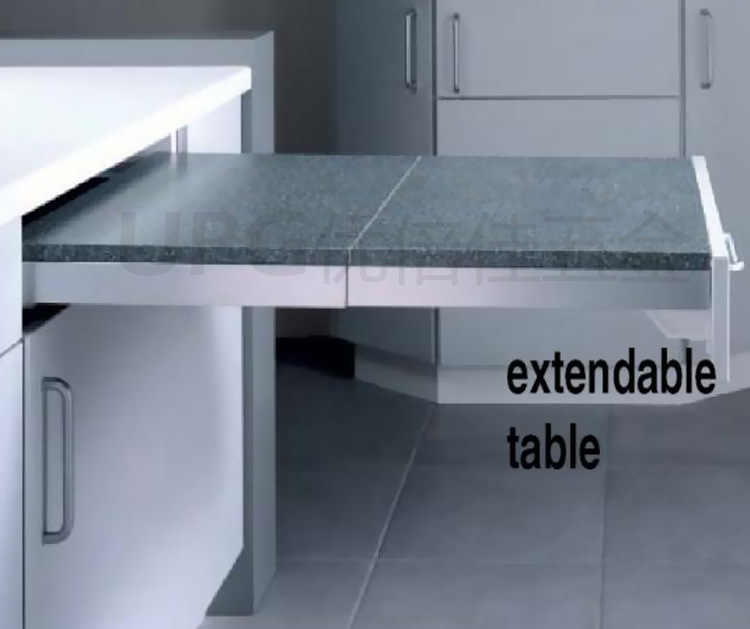 Cabinet Kitchen Retractable Function Dining Table Folding Pulling Pulling Extension Dining Table Table Rail Accessories