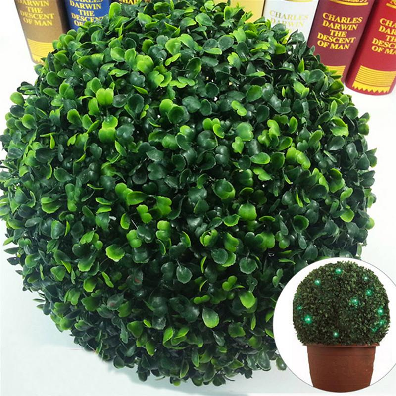 Garden Supplies Szs Hot Plastic Garden Grass Ball Topiary Tree Pot Dried Plant For Wedding Party Decor round Tower-shaped