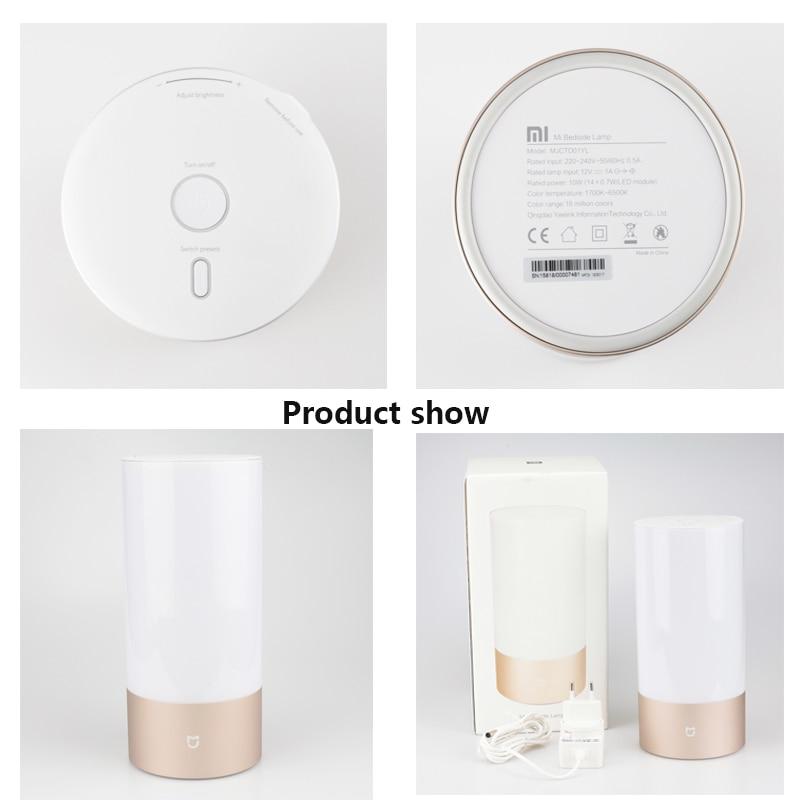 Image 5 - Оригинальный Xiao mi jia умный светильник s для помещений прикроватная настольная лампа 16 mi llion RGB Ночной светильник Wi Fi Bluetooth для Smart mi Home APP-in Настольные лампы from Лампы и освещение