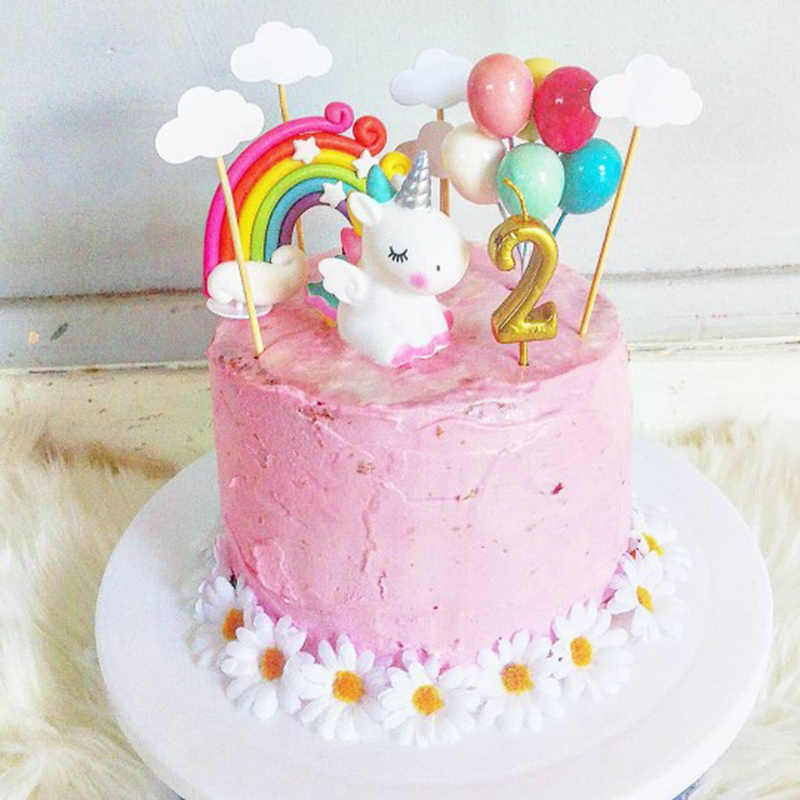 Unicorn Cake Topper Decoration Birthday Party Supplies Kids Party Cake Decoration