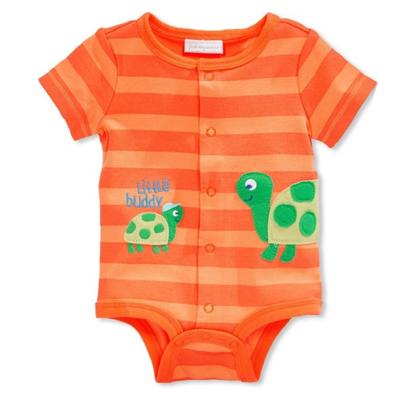 2018 Baby Boy Bodysuit Toddler One-Piece Clothes Opening Turtle Baby Dress Body Cover Newborn Jumpsuit Overall Tights Stripe