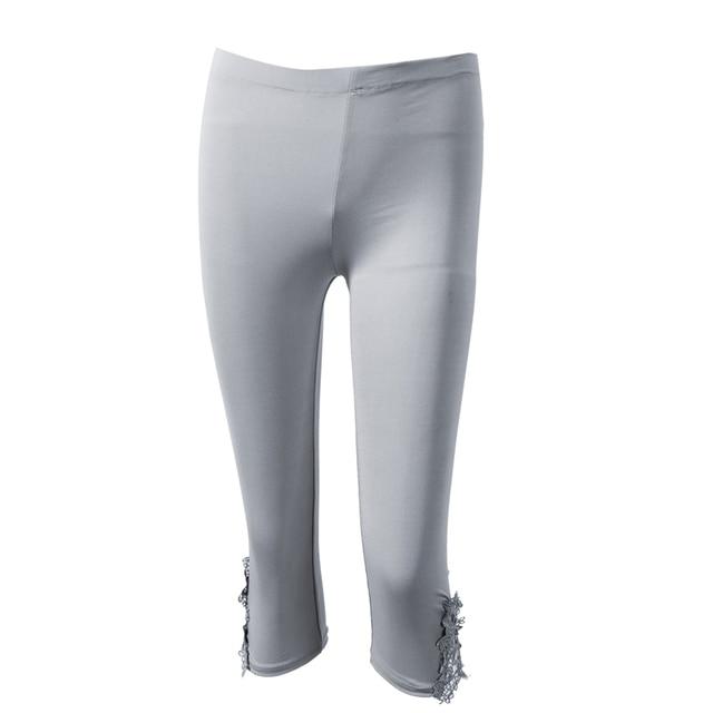 2017 moderne Mode Frauen Beliebt Modal Cropped 3 4 Capri Länge Leggings Sommer  Hosen Einheitsgröße 0b2006e81d