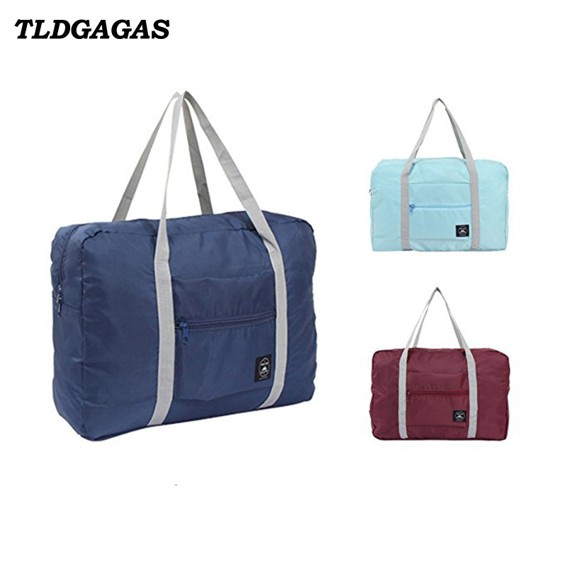 TLDGAGAS Large Capacity Nylon Unisex Travel Bags Foldable Suitcase Luggage Bags Travel Package Airplane Packing Handbag
