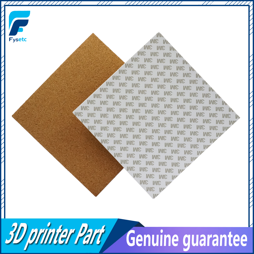 2pcs Reprap 3D Printer square 200/220/300mm 3mm th adhesive cork sheets For Prusa i3 Heated bed Hot Plate with tape thermal cork цены