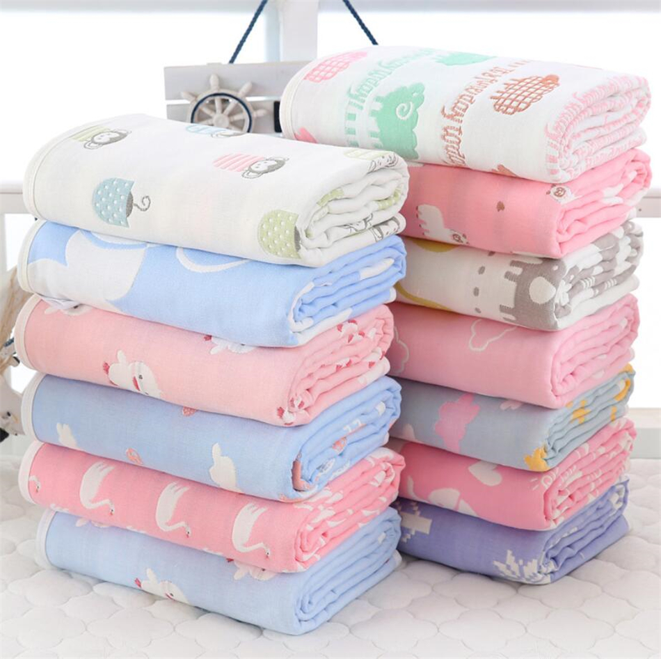 Newborn Baby Soft Nursery Cotton Banklet Receiving Blanket Swaddling Blankets JI