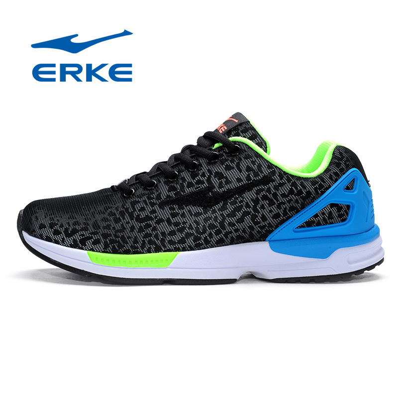 2016 ERKE Mens Sports Mesh Breathable Running Shoes Sneakers For Men Sport Damping Running Shoes Sneaker Man EUR 39--44 peak sport speed eagle v men basketball shoes cushion 3 revolve tech sneakers breathable damping wear athletic boots eur 40 50