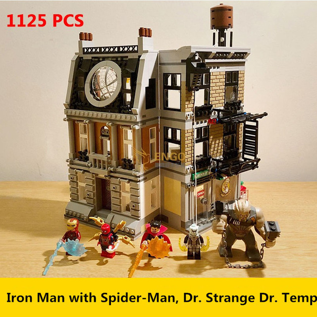 10840 Maravilhas Sanctum Sanctorum Confronto final 07107 Infinito Guerra homem De Ferro Avengers Spidermans Building Block Brinquedos