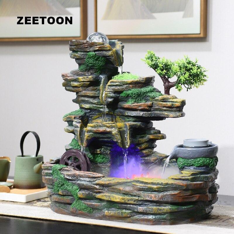 110 V-220 V ветряной мельницы альпинарий фонтан натуральная смола бонсай рабочего аквариума фэн-шуй Waterscape декор рукоделие украшения искусства