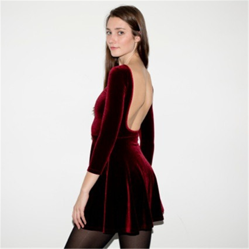 Popular Velvet Christmas Dress-Buy Cheap Velvet Christmas Dress ...