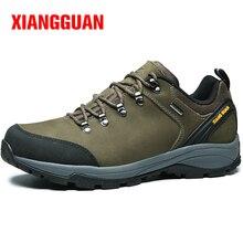 XIANGGUAN Men's Leather 2017 Outdoor Trekking Hiking Shoes Sneakers For men Sport Climbing Mountain Shoes Man Outventure