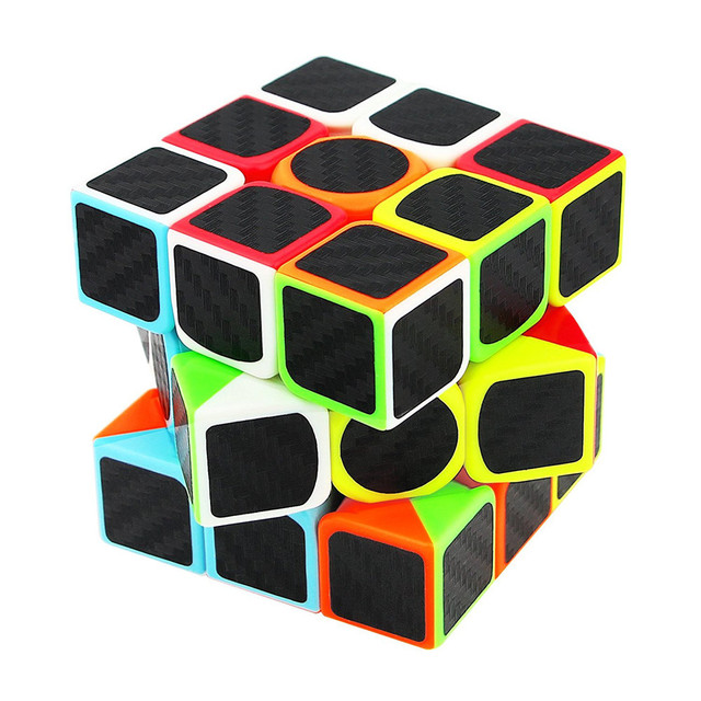 US $3 86 17% OFF|MUQGEW Carbon Fiber Sticker Speed Magic Cubes Puzzle Toy  Children Kids Gift Toy Youth Adult Instruction Professional Rubiks cube-in