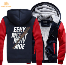 The Walking Dead Eeny Meeny Miny Moe Negan Lucille Zombie Hip Hop Hoodies Men 2019 Spring Winter Sweatshirts Plus Size Jacket