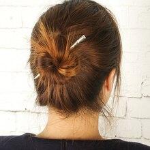 Hot Sale Alloy Simple Hair Sticks Korean New Fashion Hair Bun For Girl Cute Tiara Women