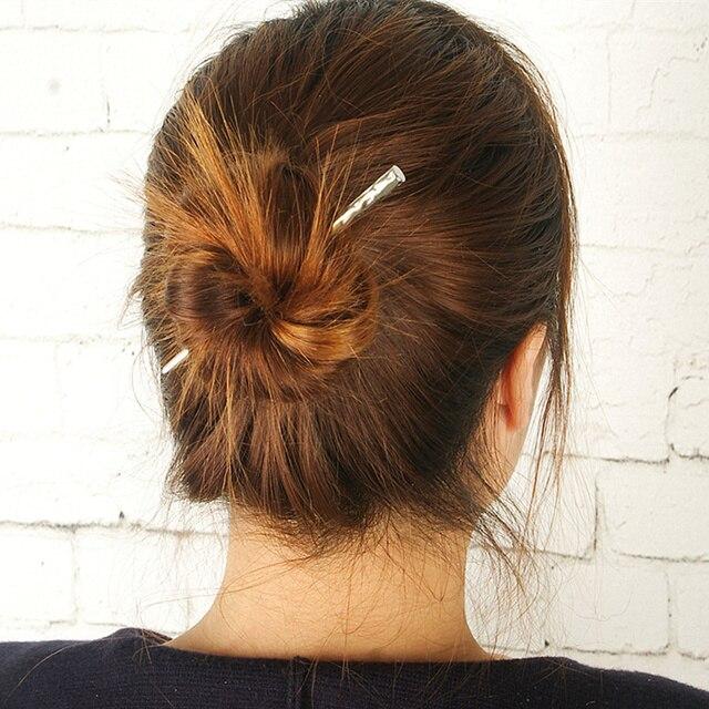 Hot Sale Alloy Simple Hair Sticks Korean New Fashion Bun For Girl Cute Tiara Women