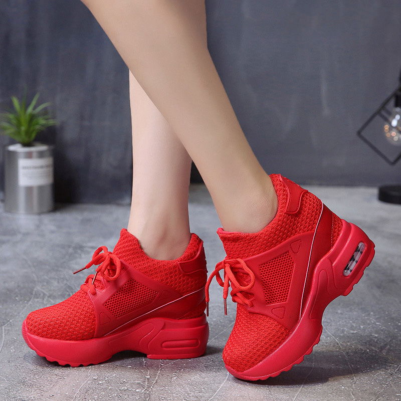 Height Increasing Shoes Woman Platform Sneakers Women Running Shoes Breathable Mesh Sports Shoes For Ladies Chunky Shoes