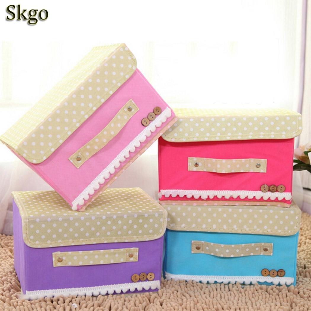 Storage-Box Spinning-Cloth Clothing Handle Folding With Finishing Wholesale Basket