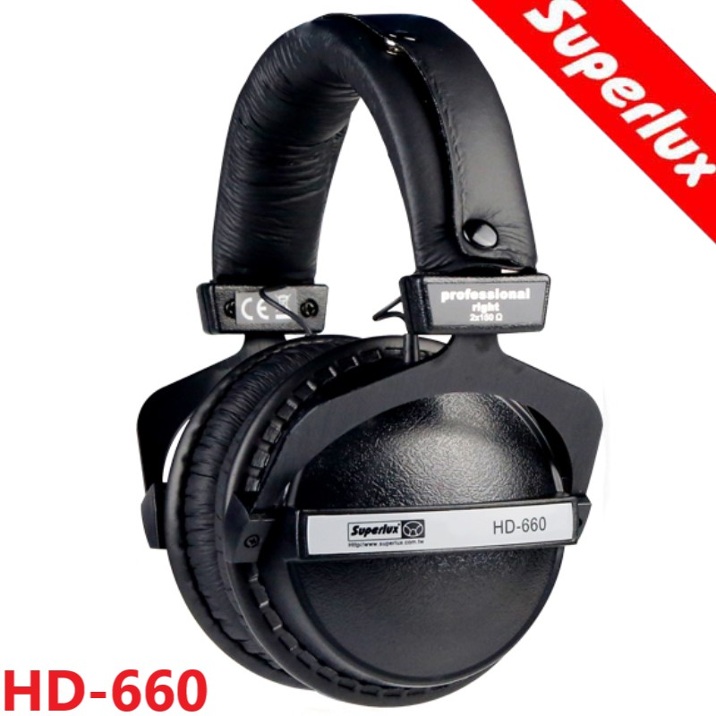 Superlux HD660 closed dynamic stereo headphone professional studio DJ monitoring HIFI headphone noise lsolating headset