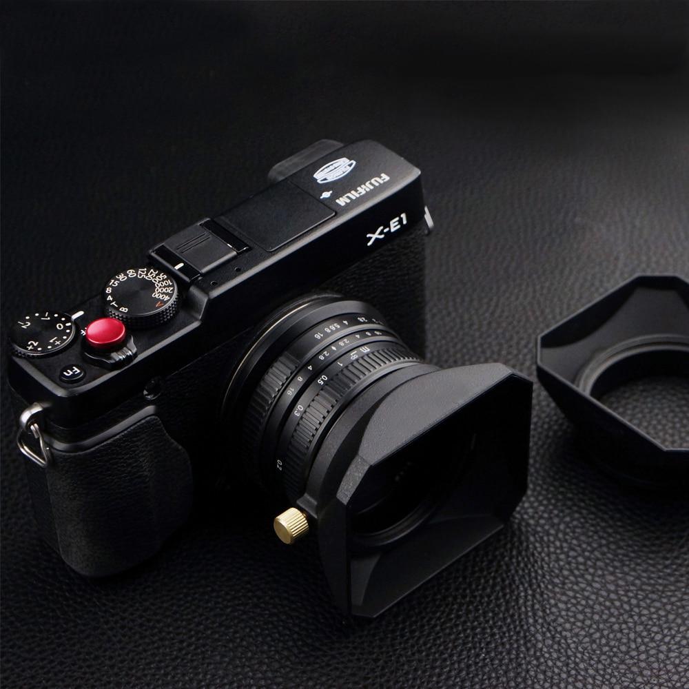 37 39 40.5 43 46 49 52 55 58 milímetros Quadrados Forma Lens Hood para Fuji Nikon Micro Câmera Única