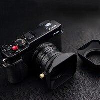 37 39 40,5 43 46 49 52 55 58 мм квадратной формы бленда объектива для Fuji Nikon микро одна камера подарок крышка объектива