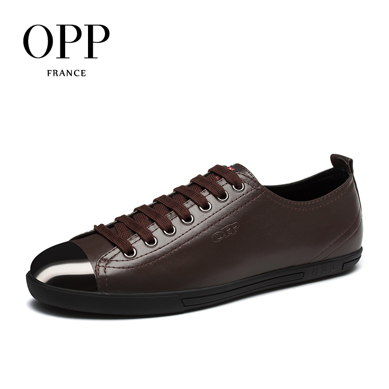 OPP Mens Loafers Fashion Cow Leather Lace-up Casual Shoes, Leather Stitching Casual Men's Shoes Genuine Leather Loafers for Men men leather shoes casual 2017 spring summer fashion shoes for men designer shoes casual breathable mens shoes comfort loafers