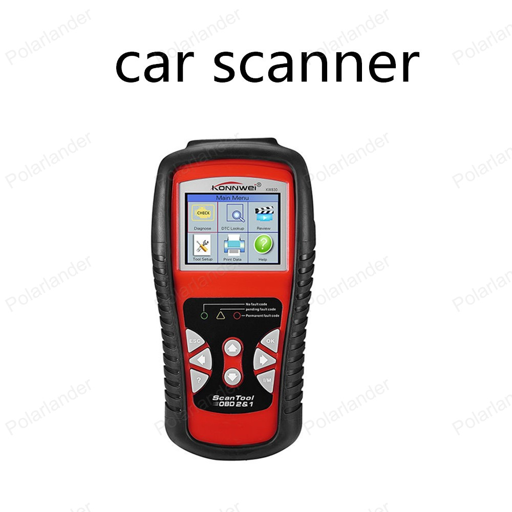 hot sell KW830 Car Fault Code Reader Scanner AL519 OBD2 EOBD Automotive Diagnostic Scan Tool Can Test Battery hitag2 transponders programmer hot sale diagnostic tool auto code reader fault reader car accessories free shipping