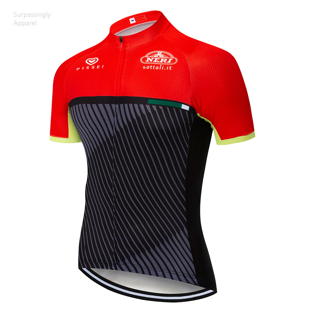 Cycling Clothings Smart Black Red Italia Cycling Jersey Summer Team Short Sleeve Cycling Bike Clothing Ropa Ciclismo Cycling Clothing T-shirt Sportswear Good For Antipyretic And Throat Soother Cycling