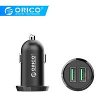 ORICO UCE-2U Dual USB Car Charger 17W Output Intelligent Charging Mobile Phone 2.4A Smart Travel Adapter Cigar Lighter Charger