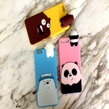 for Huawei Honor 8 Lite case 3D Cute Cartoon We Bare Bears brothers funny toys soft phone P8