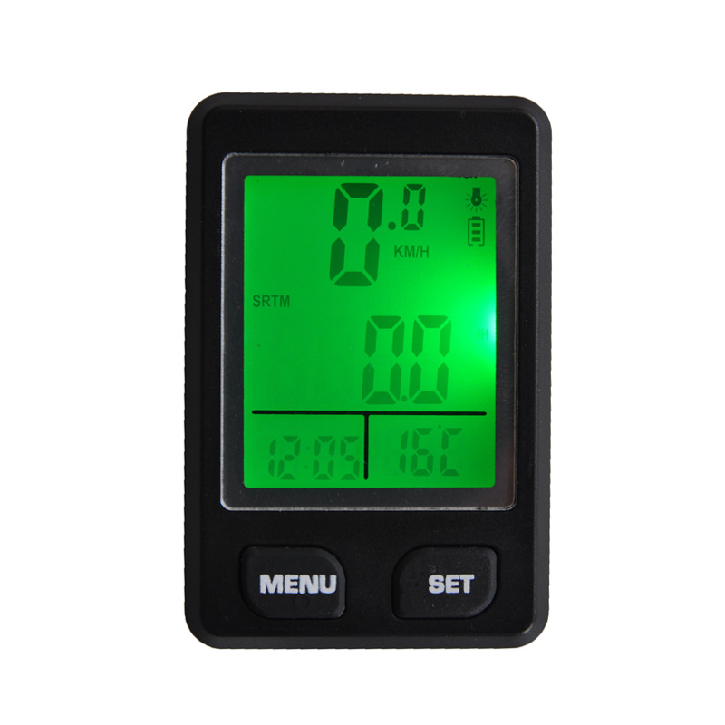 Multifunction digital LCD Backlight Wired Waterproof Bicycle Odometer Bike Speedometer Bicycle Stopwatch