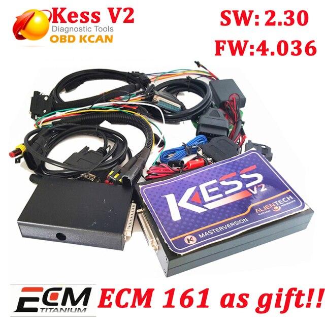 KESS V2 kess V2.30 Newest OBD2 Manager Tuning Kit No Token Limit Kess v2 V4.036 Master Version ECU chip tunning tool kess v2