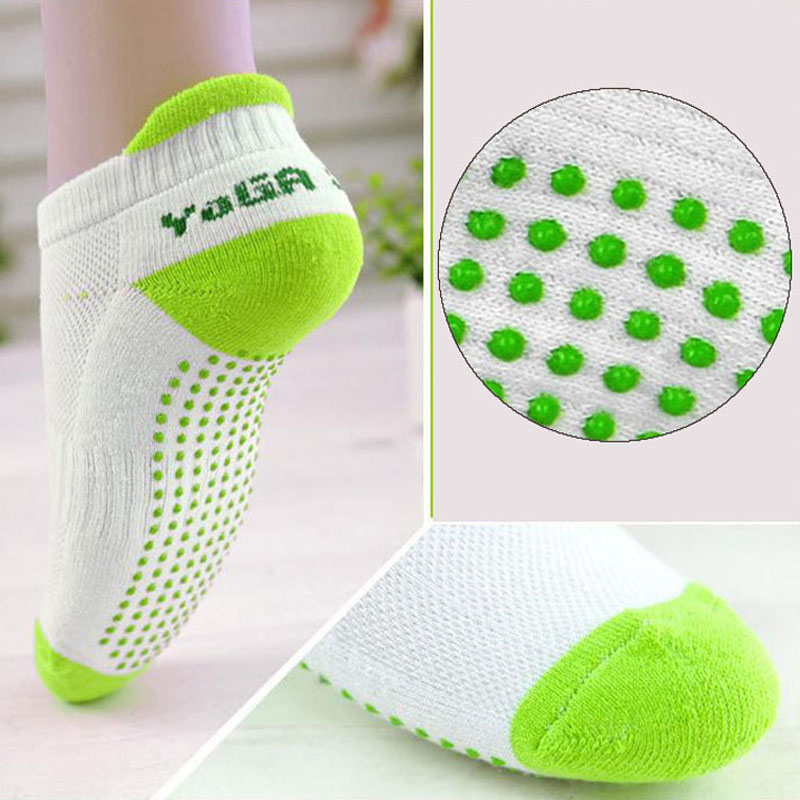Kvinnor Fitness Kvinnor Professionella Yoga Strumpor Anti Slip Gummi Dots Sport Indoor Exercise Socks Latex Pilates Strumpor Gratis frakt