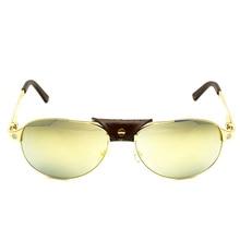 Golden Sunglasses Carter Glasses Santos Eyeglasses Carter Sunglasses Men Aviator Shades Retro Women Wayfare Oculos De Sol 554
