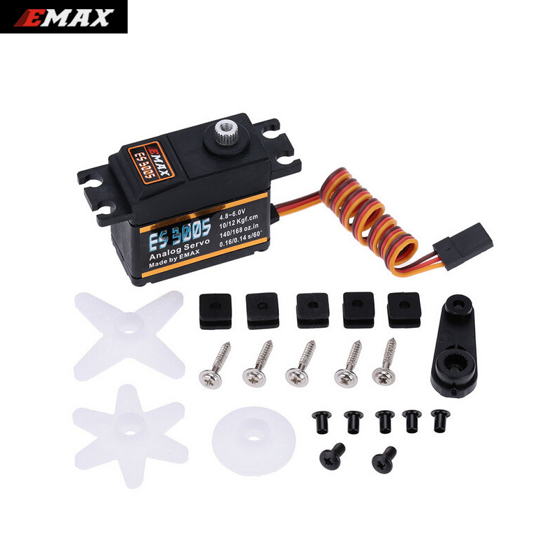 4set/lot EMAX ES3005 Analog Metal Waterproof Servo with Gears 43g servo 13KG torque for RC car boat airplane