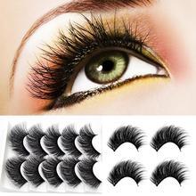 5 Pairs 3D Eyelashes Wispy Beauty Natural False Long Thick False Eyelashes Makeup недорого