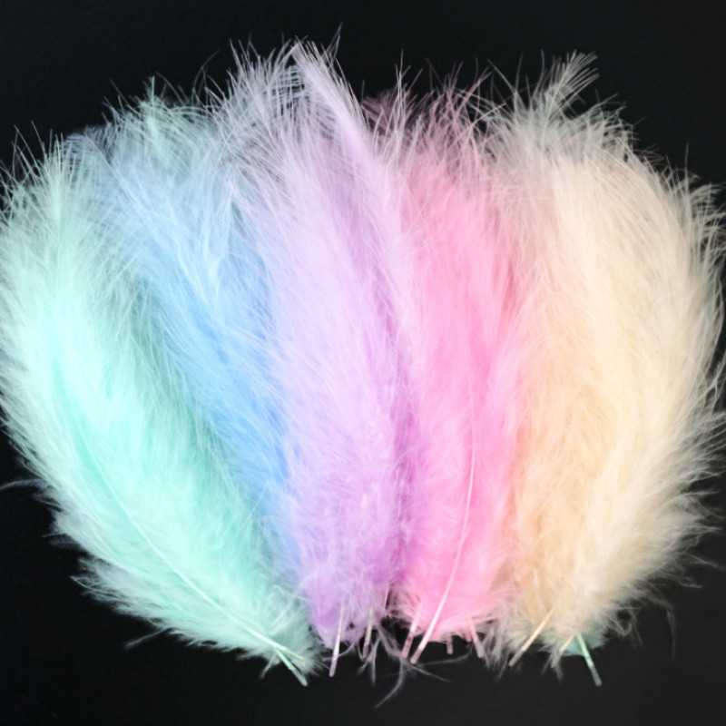 Turkey Feathers 50pcs 4-6 Inches 10-15cm Chicken Plumes Turkey Marabou Feathers For Carnival Halloween Christmas DIY Craft Decor