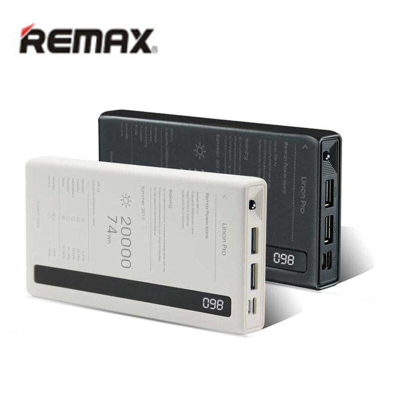 Remax Charge rapide power-bank 20000 mah sauvegarde des Batteries externes double USB type C avec LED chargeur de téléphone portable appauvrbank 20000