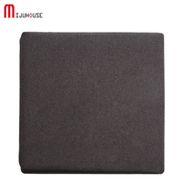 Square Solid Color Latex Seat Cushion Slow Rebound Memory Sit Seat Lumbar Office Chair Seat Cushions Bolster Buttocks Tie On Pad