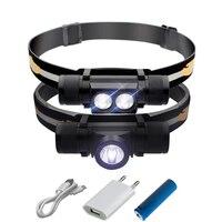 Отдых на природе света светодиодные фары CREE xm-l L2 USB Фара Фонарь налобный фонарь светодиодный головной свет водонепроницаемый 18650 аккумулято...