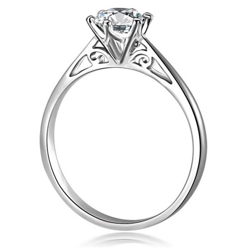 Romantic Bridal Wedding Rings For Women 925 Sterling Silver 0.3ct & 0.5ct Six Claw Engagement Ring Non Fading Bijoux Femme