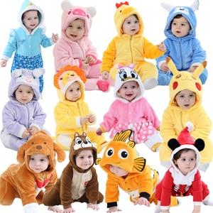 Image 3 - Baby Rompertjes Dieren Warm Winter Coral Fleece Leuke Vis Pyjama Kerst Pasgeboren Baby Jongen Meisje Pijamas De Bebe Recem Nascido