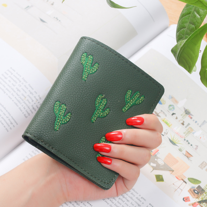 Wallet Lovely Clutch Embroidery mini Clutch Thin Travel lady's card Rfid Wallets Coin puses Wallet Carteras portefeuille Bolsa 5