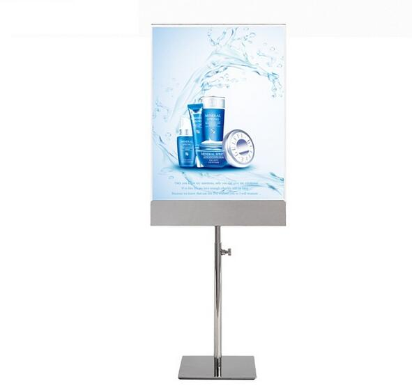 Acrylic label holder frame stainless steel Billboard stand