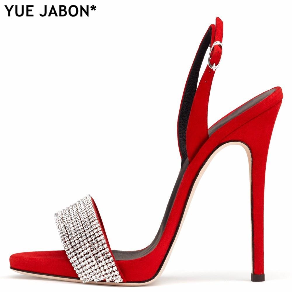 Picture Ouvert À picture Chaussures Yue Sexy En Strass picture 1 Boucle Sandales De Mariage 2 3 Daim Bout Talons Sangle Hauts Partie Dames Mince Femmes Jabon Cristal qRqrOg1Z
