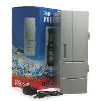 Mini USB Cooler Warmer Fridge Desktop Refrigerator Beverage Soda White
