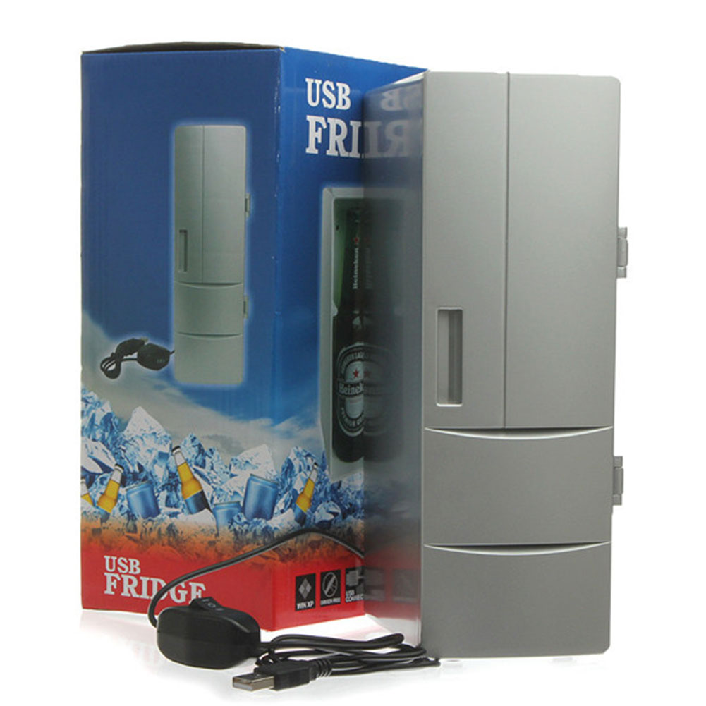 Desktop Beverage Cooler ~ Mini usb cooler warmer fridge desktop refrigerator